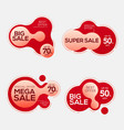 sale badges with liquid color abstract shape vector image