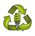 saving planet bulbs icon vector image vector image