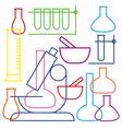 School and education icon - beaker vector image