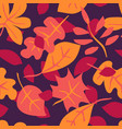 seamless pattern with autumn leaves creative vector image vector image
