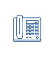 secretarys phone line icon concept secretarys vector image