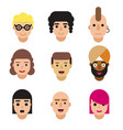 set of avatars isolated on white background vector image