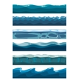 Set of sea backgrounds for mobile games apps vector image