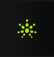 simple logo for medical marijuana isolated vector image