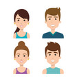smiling people set vector image