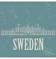 Sweden landmarks Retro styled image vector image vector image