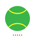 tennis ball icon different color vector image