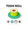 Toshi roll icon in different style vector image