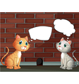Two cats with empty callouts vector image vector image