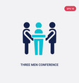 two color three men conference icon from behavior vector image