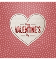 valentines day greeting heart label with text vector image