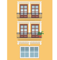 Yellow building vector image vector image