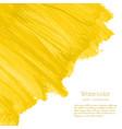 yellow golden watercolor texture background vector image vector image