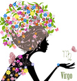 Zodiac sign virgo fashion girl vector image vector image