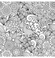 floral black and white decorative pattern vector image