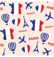 Seamless pattern background with France with map vector image