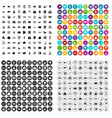 100 postal service icons set variant vector image vector image