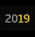 2019 broken golden numbers vector image vector image