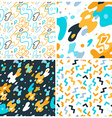 abstract background and seamless patterns vector image