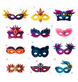 authentic party carnival face masks decoration vector image
