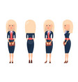 beauty blonde in business suit vector image vector image