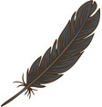 black bird feather vector image vector image