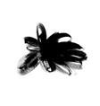 black paint brush stroke ink brush shape vector image vector image