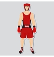 boxing fighter vector image