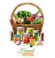 canned goods composition vector image