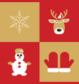 christmas collection of winter holidays icons vector image vector image
