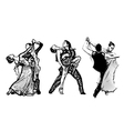 classical dance trio vector image vector image