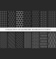 collection of geometric seamless patterns vector image vector image