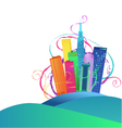 Colorful cityscape vector image vector image