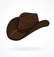 cowboy stetson hat brown vector image