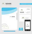 cutter business logo file cover visiting card and vector image vector image