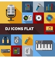 Dj Icons Flat Set vector image vector image