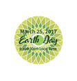 ecology earth hour vector image vector image