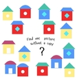 Educational game find picture without copy vector image vector image