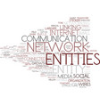 entities word cloud concept vector image vector image