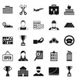exchequer icons set simple style vector image vector image
