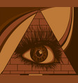 eye providence all seeing in triangle vector image