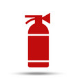 fire extinguisher painted in flat design isolated vector image