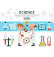 flat science icons set vector image vector image