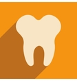 Flat with shadow icon and mobile applacation teeth vector image vector image