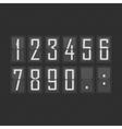 flip numbers vector image