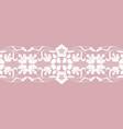 floral lace ribbon vector image