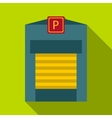 Gates to parking icon flat style vector image vector image
