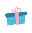 gift box with ribbon the concept congratulations vector image