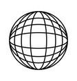 globe world trade connection international vector image