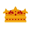 Gold crown flat icons vector image vector image